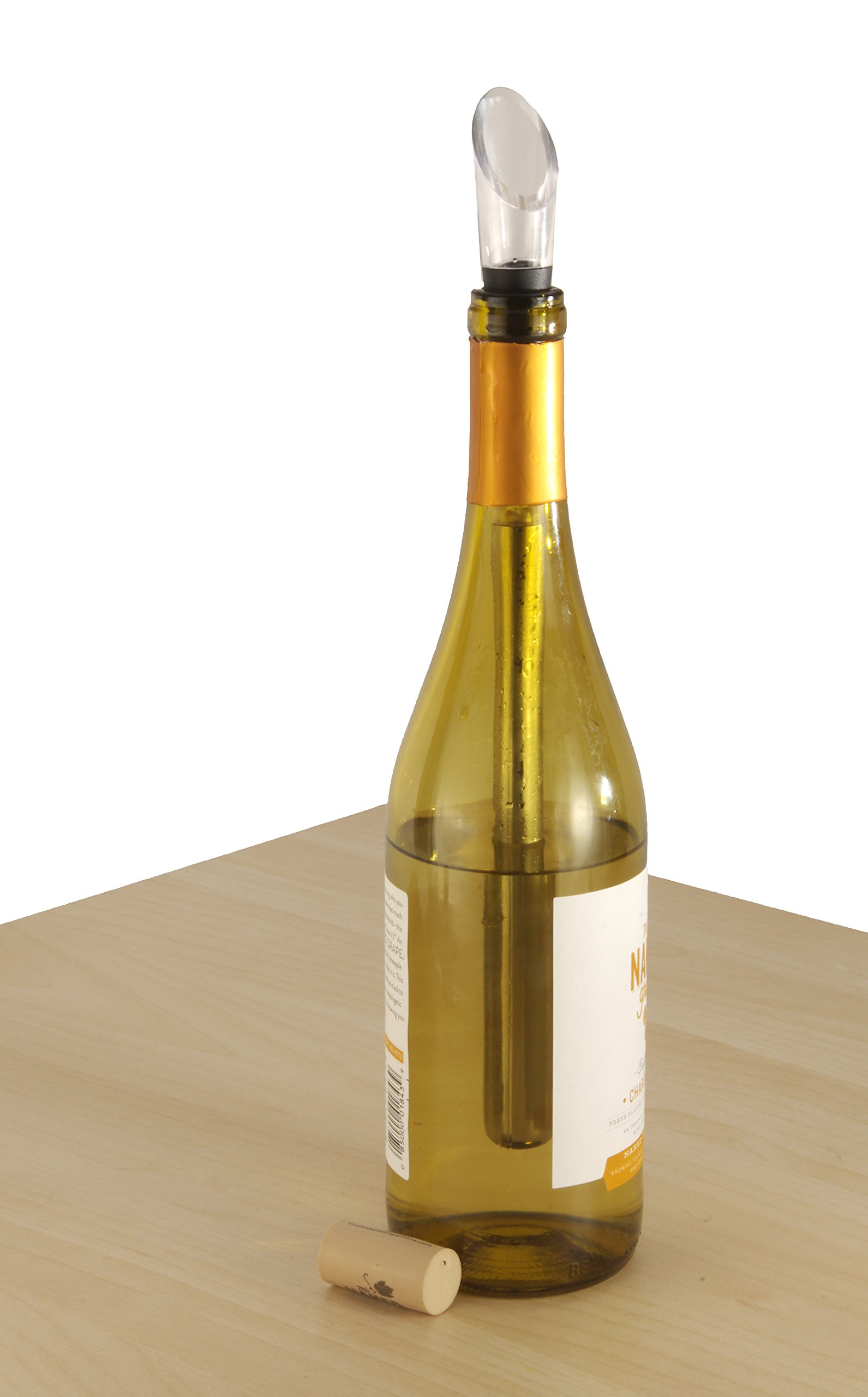 Wine Chiller: BlizeTec 3-in-1 Stainless Steel Wine Bottle Cooler Stick with Aerator and Pourer by BlizeTec (Image #7)