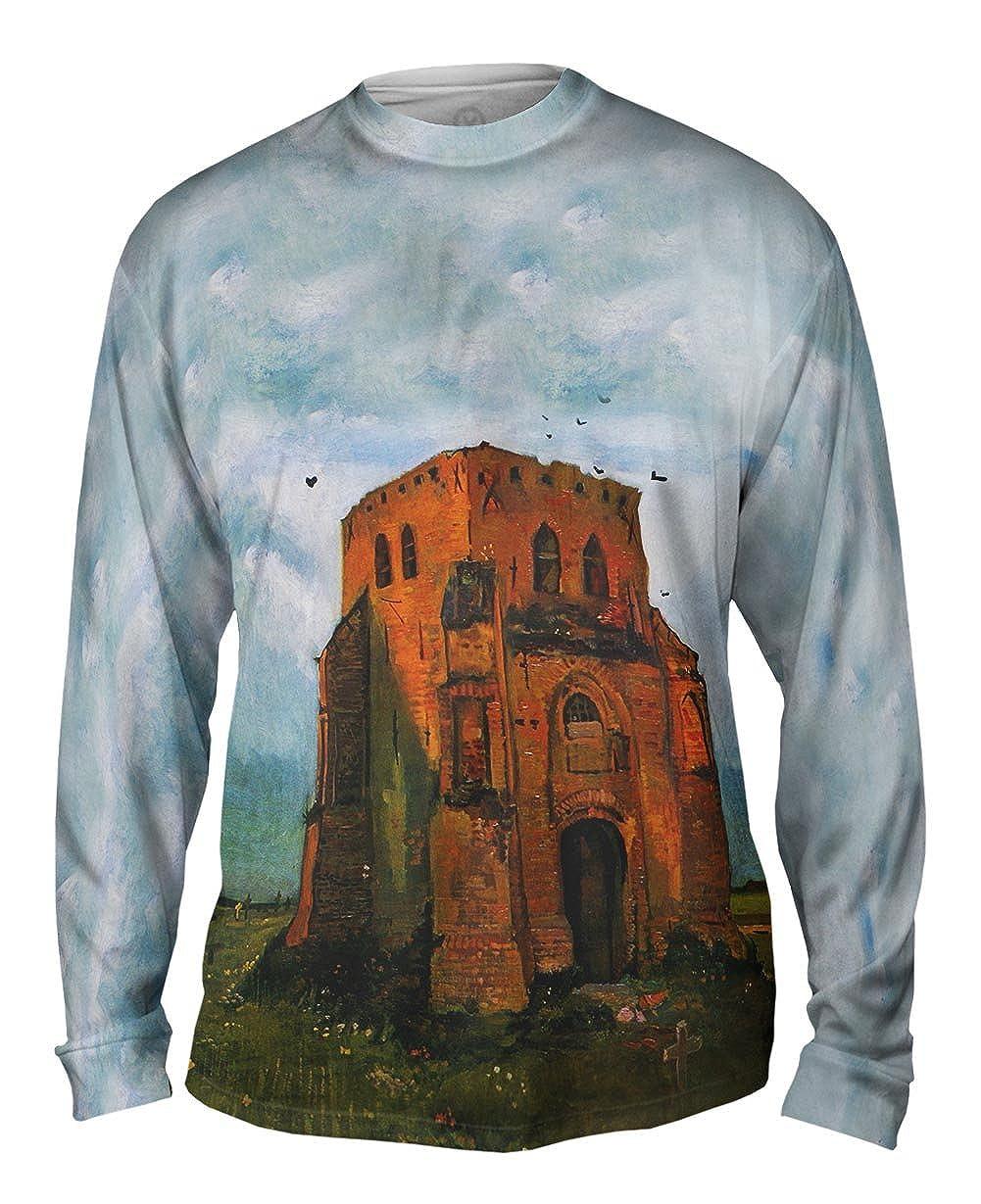 Yizzam Country Churchyard 1885 Van Gogh Mens Long Sleeve -TShirt