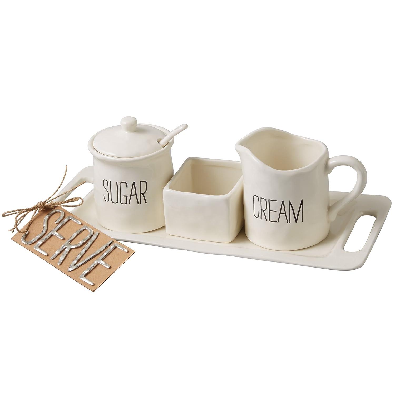 amazoncom  mud pie circa cream and sugar set white cream  - amazoncom  mud pie circa cream and sugar set white cream  sugar sets
