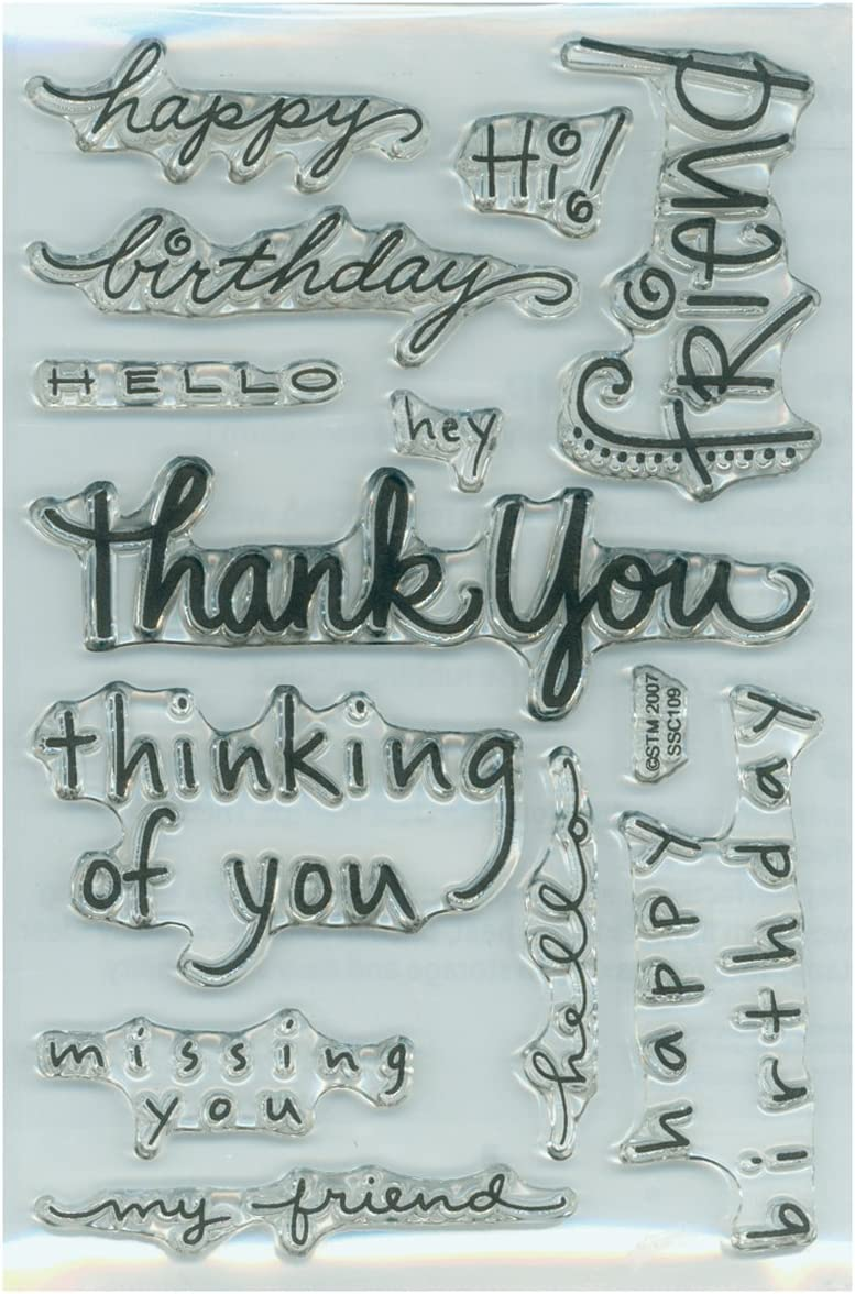 Stampendous 385145 Perfectly Clear Stamps, Happy Messages