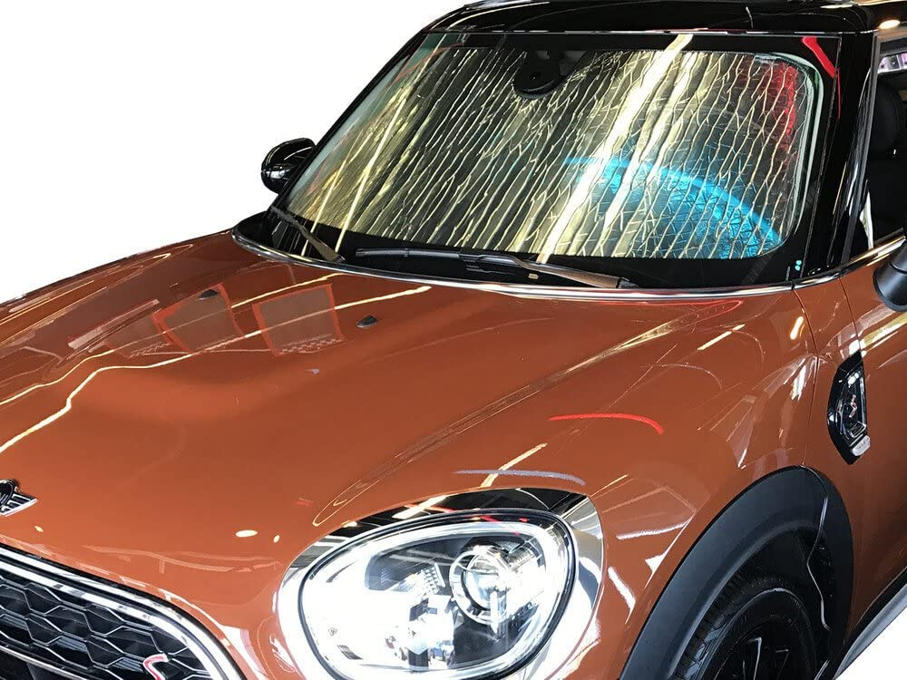 B-MN-11 Economy Custom Auto Windshield Sun Shade for Mini Cooper//S coupe 2014-19