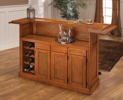 Ordinaire Hillsdale Classic Oak Large Home Bar Unit