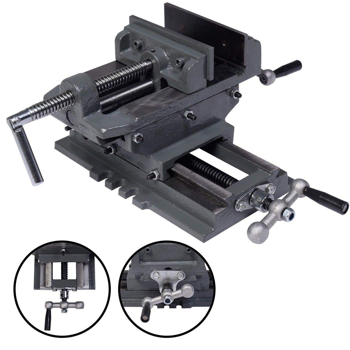 New 5'' Cross Drill Press Vise X-Y Clamp Machine Slide Metal Milling 2 Way HD