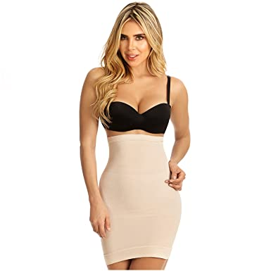 cadd8d72d1185 Rose 21702 High Waist Body Shaper for Women Half Slip Vestidos Levanta Cola  Beige
