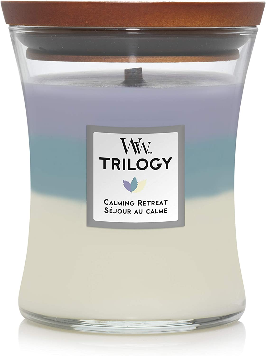 WoodWick 5038581054278 Trilogy Candle Medium Calming Retreat 92965E, one Size