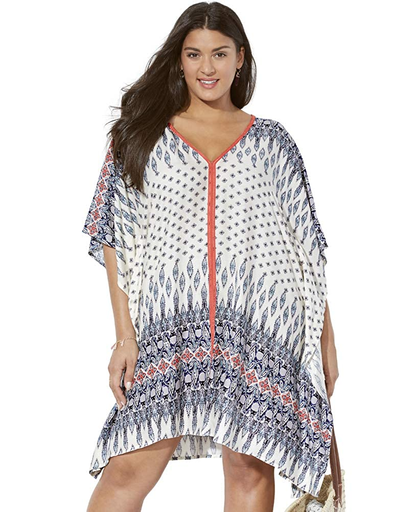 Swimsuits for All Womens Plus Size Beach Cover Up Tunic
