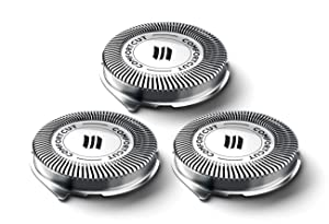 SH30 Replacement Heads Compatible with Philips Norelco Series 1000, 2000, 3000 Shavers and S738 Click & Style, Lift & Cut Made in Netherlands SH30/52