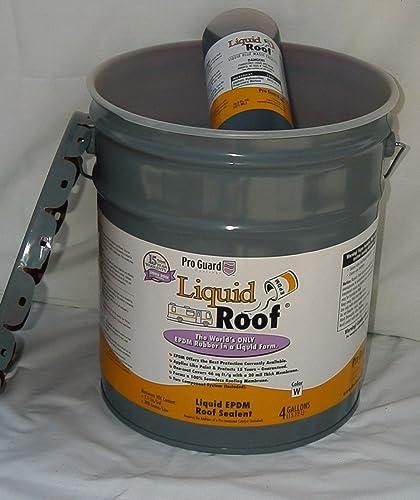 Liquid Roof RV Roof Coating & Repair 4 Gallon Pail<br />