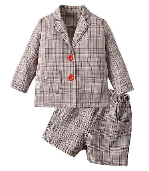 Amazon.com: SANGTREE - Juego de chaqueta y falda para niña ...