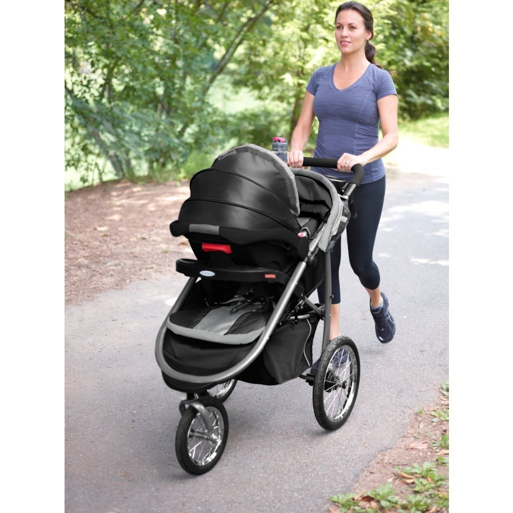 Graco Fastaction Fold Jogger Click Connect Stroller, Gotham by Graco (Image #8)