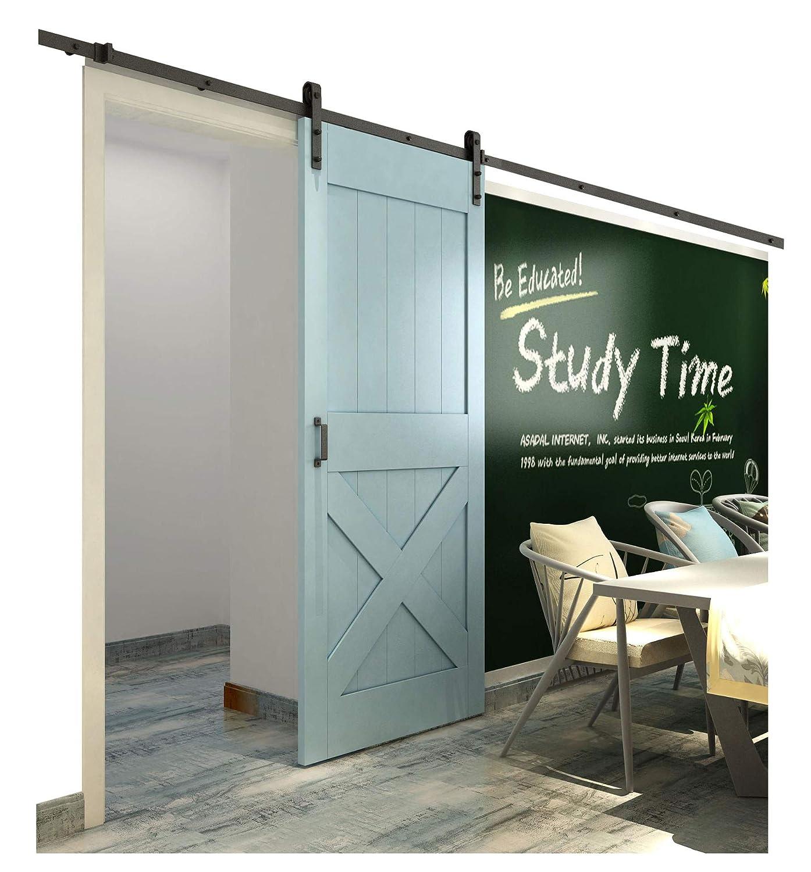 Amazon.com: Diyhd Bent Straight Black Sliding Barn Door Roller Set ...