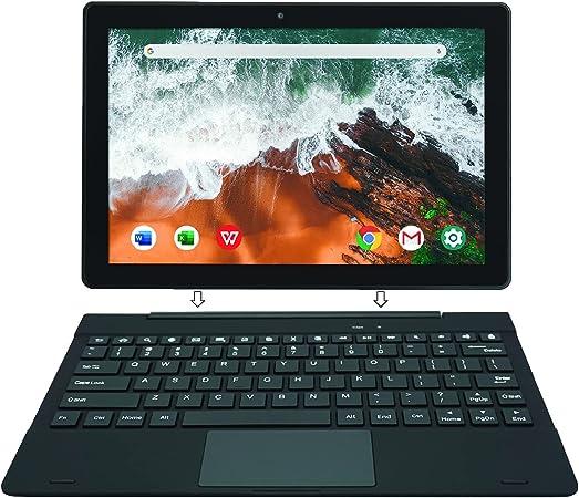 [Artículo Adicional 3] Simbans TangoTab 10 Pulgadas Tableta con Teclado, Ordenador Portátil 2 en 1, Android 10, 4GB RAM, Disco 64 GB - TLX