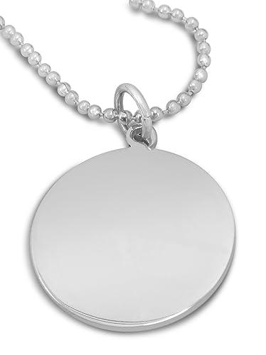 Custom engraved personalised circle pendant on chain with velvet custom engraved personalised circle pendant on chain with velvet gift bag c3 p aloadofball Gallery