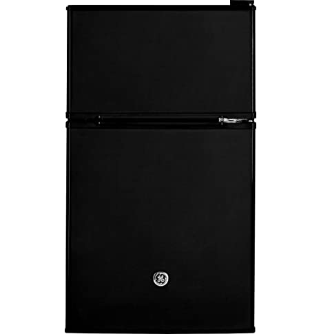 GE GDE03GGKBB Freestanding Compact Refrigerator, 3.1 Cu Ft, Black