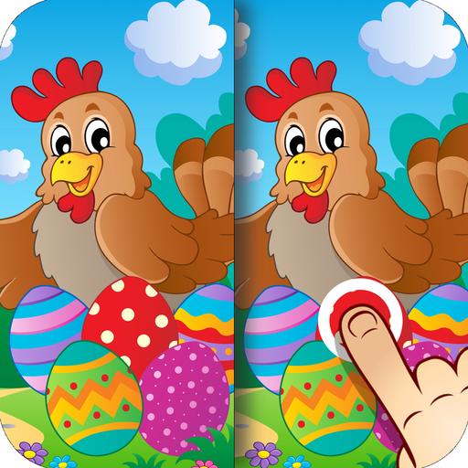 Ostern - Finde die Unterschiede für Kinder und Erwachsene