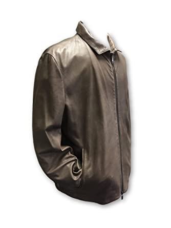 Pal Zileri Sartoriale Leather Jacket in Caramel Brown - Size 44R Leather: Amazon.es: Ropa y accesorios
