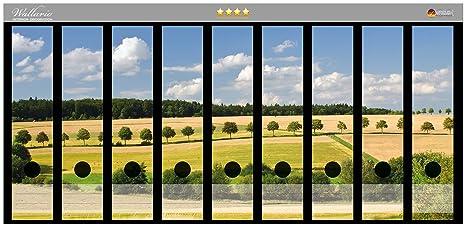 Adhesivo diseño de campo de archivador de la parte de la espalda de paisaje de bajo