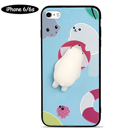 dd29ee8250 Image Unavailable. Image not available for. Color: 3D Squishies Polar Bear  Protective Phone Case for iPhone 6 ...