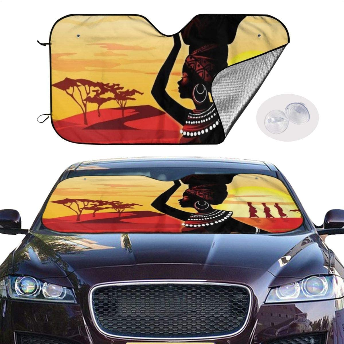 Nice Music Windshield Sun Shade Cover Summer Car Windows Visor Kit Ornament Decor Outdoor Vehicle Interior Accessories Sunshade Auto for Women Men