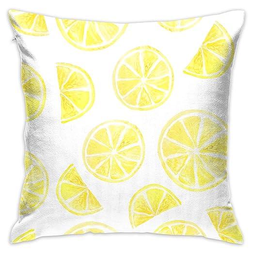 Fundas de cojín Personalizadas de Color Amarillo limón para ...