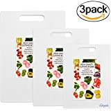 Cutting Boards, Outgeek 3 Pack Cutting Board Set Dishwasher Safe Chopping Boards with Non-Slip Feet