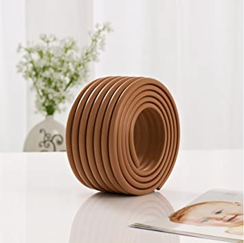 Interbusiness Home Safety Multifunctional Furniture Edge Corner Soft Bumpers  Protector Guards For Baby Children (Coffee