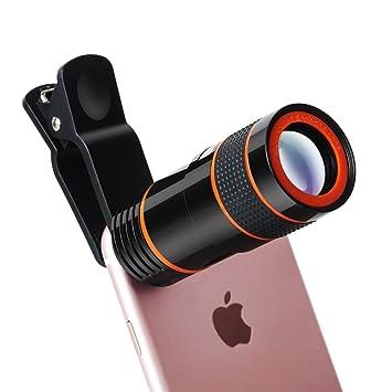 f92e1ab8e3ec8 Yarrashop 8X Teleobjektiv Handy Zoom Clip on Tele Linse Universal Kamera  Zubehör HD Optischer Zoom Lens