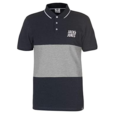 JACK & JONES Core Passion - Polo para Hombre, Color Gris - Azul ...