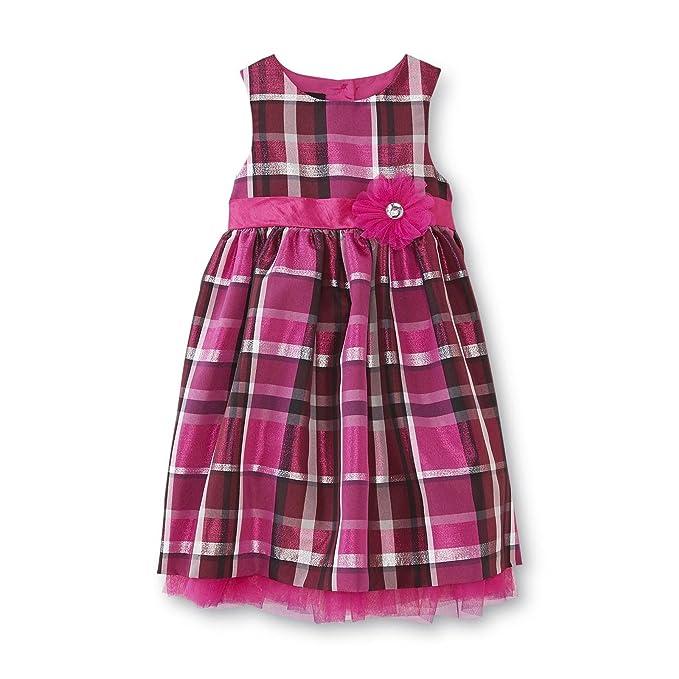 71020cca5 Amazon.com  Holiday Editions Toddler Girls Magenta Plaid Occasion ...