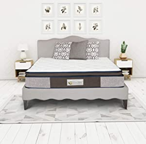 IRVINE HOME COLLECTION Queen 12 Inch Hybrid Latex, Gel Memory Foam, Comfort Foam and Spread Pocket Coil with Foam Encasement Mattress, Medium Firm Feel, CertiPUR-US Certified, Temperature Balanced