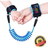 Harness for Kids | Anti Lost Toddler Child Safety Wrist Link | Extra Safe Double Velcro Wrist Straps | Soft Skin Friendly Hypoallergenic 100% Cotton | Blue
