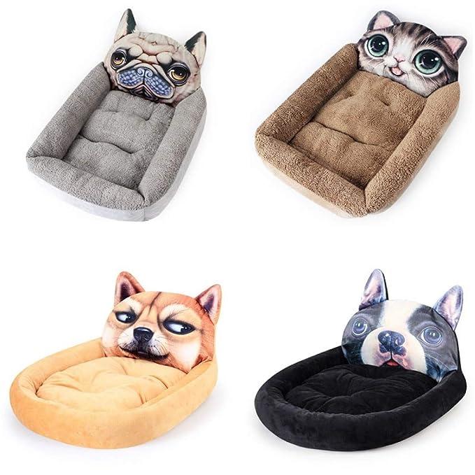Amazon.com : FLAMINGO_STORE Dog Bed cat Bed Dog Bed Soft Warm Plush Dog House for Large Dogs Pug French Bulldog Puppy Cotton Padding Dog Blanket Pet ...