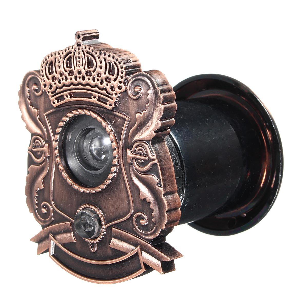 Vintage Bronze Judas de porte Judas Viewer combin/é avec sonnette et Confidentialit/é Coque