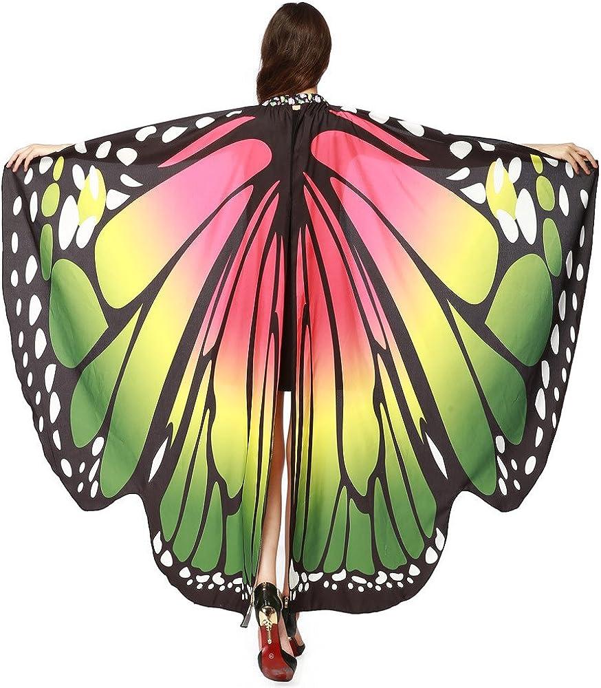 BHYDRY Donne Farfalla Ali Scialle Sciarpe Decorazione del Tour di Primavera Costume Accessorio