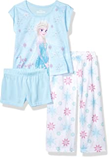 Amazon.com: Frozen Sisters Short 4-Piece Girls Pajama Set ...