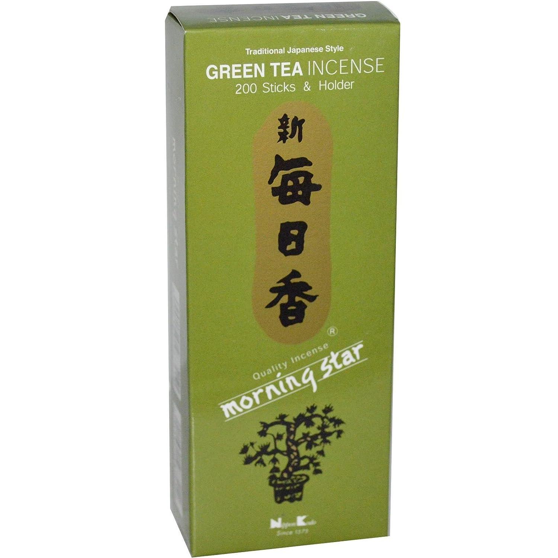 特価商品  Nippon Kodo, Morning Green Star, Green B0015DFCVS Tea Nippon Incense, 200 Sticks & Holder B0015DFCVS, 長洲町:b4b347ed --- egreensolutions.ca