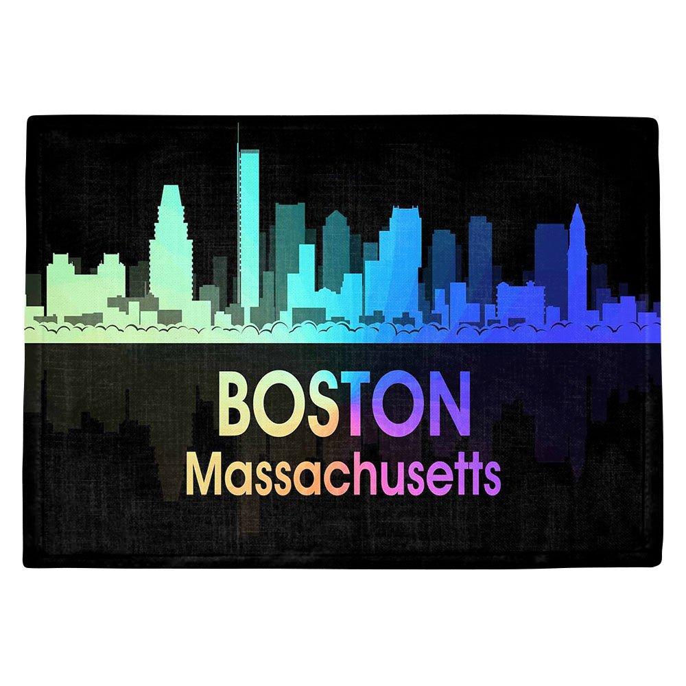 DIANOCHEキッチンPlaceマットby Angelina Vick City Vボストンマサチューセッツ州 Set of 4 Placemats PM-AngelinaVickCityVBostonMA2 Set of 4 Placemats  B01EXSIFBK