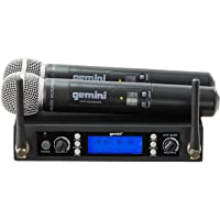 Gemini DJ UHF6200M Dual Channel Wireless with 2 Handheld System
