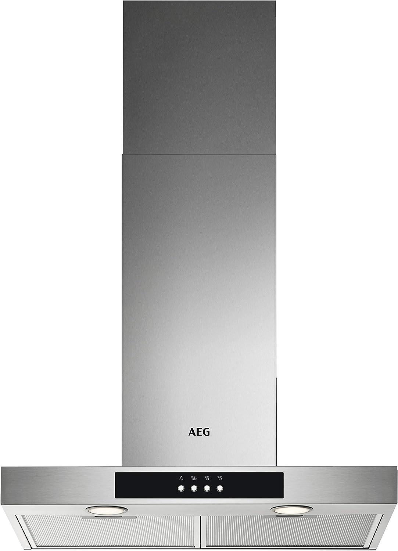 AEG DBB3651M - Sistema de ventilación (60 cm, acero inoxidable, máx. 600 m3/h/min. 62-máx. 73 dB(A) / C/teclas de carrera corta.