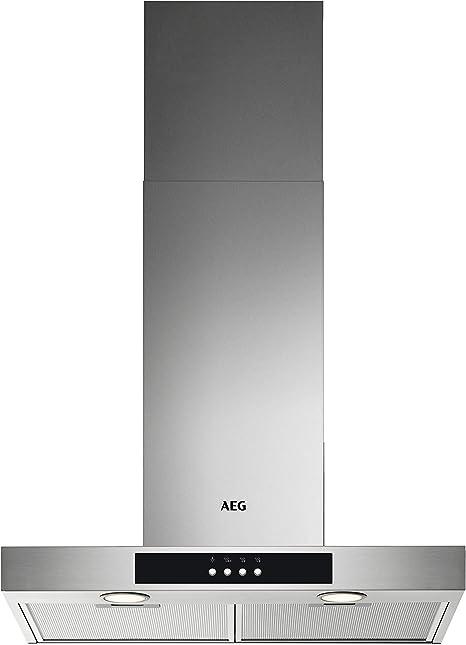 AEG DBB3651M - Sistema de ventilación (60 cm, acero inoxidable, máx. 600 m3/h/min. 62-máx. 73 dB(A) / C/teclas de carrera corta.: Amazon.es: Grandes electrodomésticos