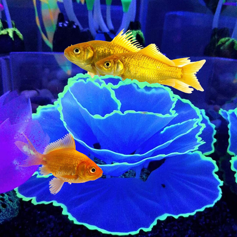 Aquarium Coral Ornament Glowing Effect Coral Decor Resin Fish Tank Plants Decoration for Aquarium Landscape