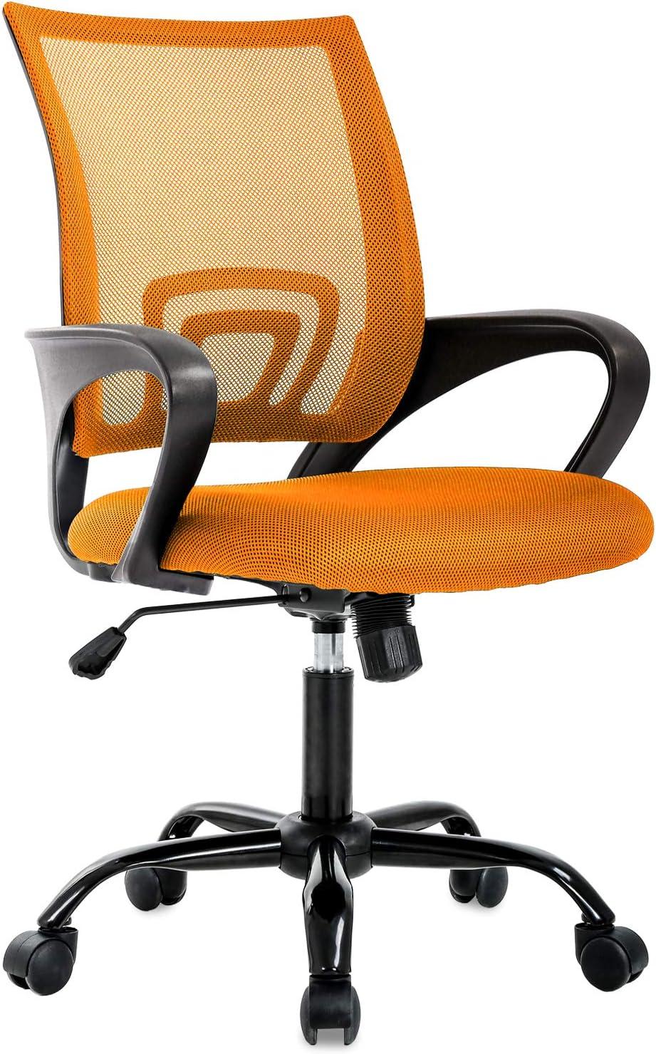 Ergonomic Office Chair Desk Chair Mesh Computer Chair Back Support Modern Executive Adjustable Chair Task Rolling Swivel Chair for Women, Men (Orange)