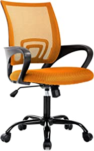Ergonomic Office Chair Desk Chair Mesh Computer Chair Back Support Modern Executive Adjustable Chair Task Rolling Swivel Chair for Women, Men (Orange)