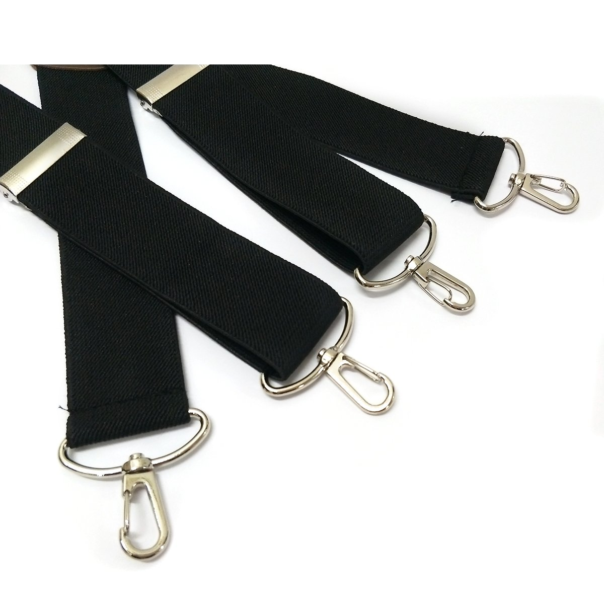 We We Black Suspenders for Men with Hooks Heavy Duty Big and Tall Adjustable Braces