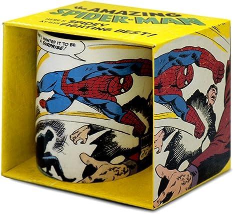 Spiderman Marvel Comics - Taza (en caja regalo), diseño de Spiderman: Amazon.es: Hogar