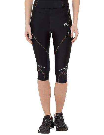 Ultrasport Rainbow - Pantalones corsario de Deporte para Mujer, Color Negro, Talla XS
