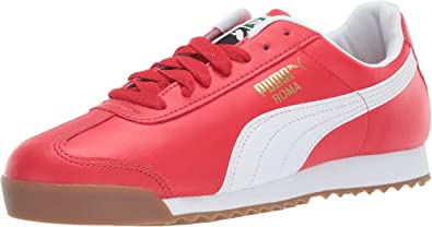 Puma Roma Basic Olympian Blue White Red For Big Kids Size 4.5 To 6.5 New N Box