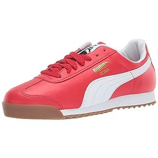 PUMA Men's Roma Basic Sneaker, high Risk red w, 12 M US