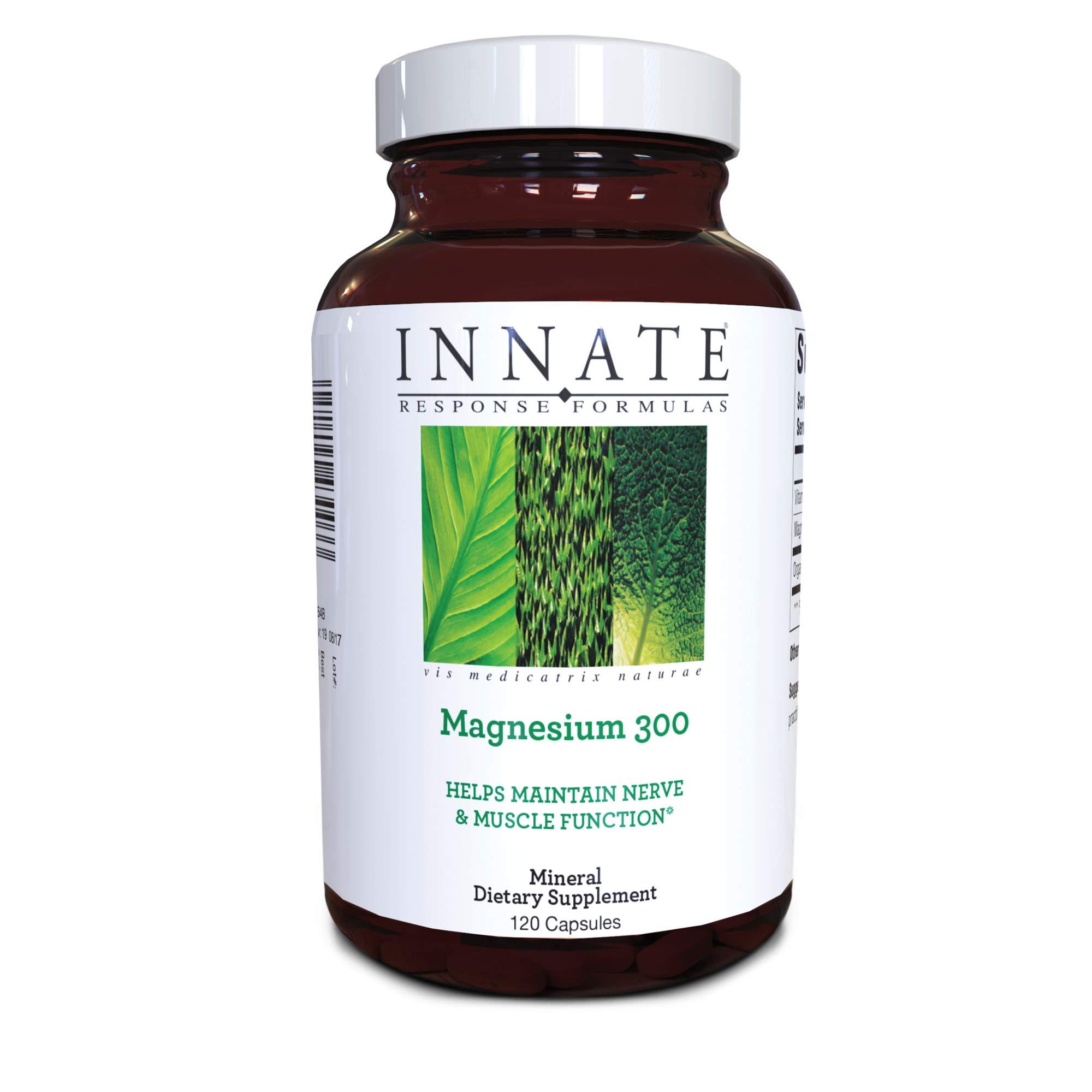 INNATE Response Formulas, Magnesium 300, Mineral Supplement, Vegetarian, 120 Capsules (60 Servings)