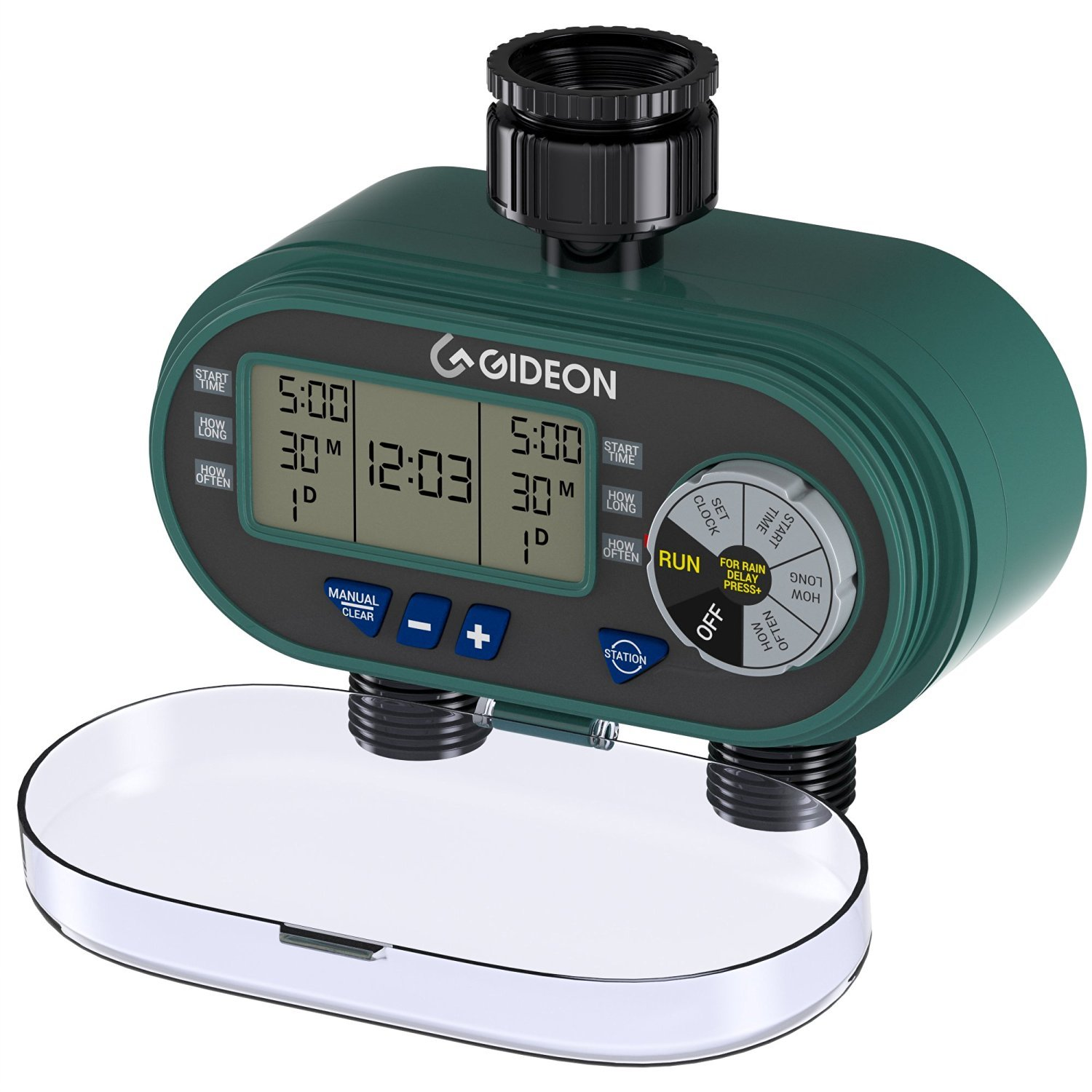 Gideon Electronic Dual-valve Hose Irrigation Water Timer Sprinkler System – Simple Hose Connection with Easy to Use Digital System by Gideon